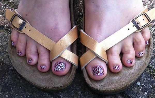 Snake skin voeten
