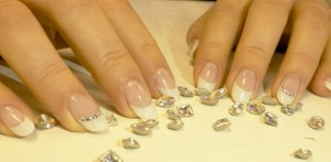 crystal french manicure
